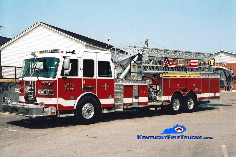 <center> Columbia  Ladder 1 <br> 2005 Sutphen 1500/300/100'   <br> Greg Stapleton photo </center>