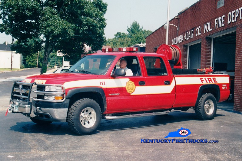 <center> Columbia-Adair County  Brush 127 <br> 2002 Chevy 2500 4x4/ADFD 250/200  <br> Greg Stapleton photo </center>