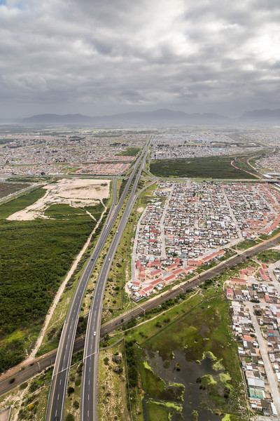 Ariel shots of Cape Town area
