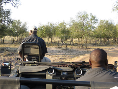 Our guides Joe and Mike on the lookout...