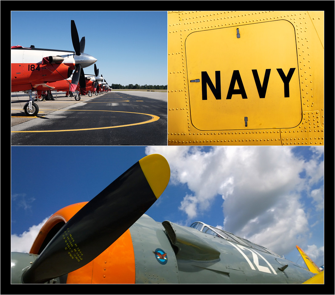 T-6 Texan collage.