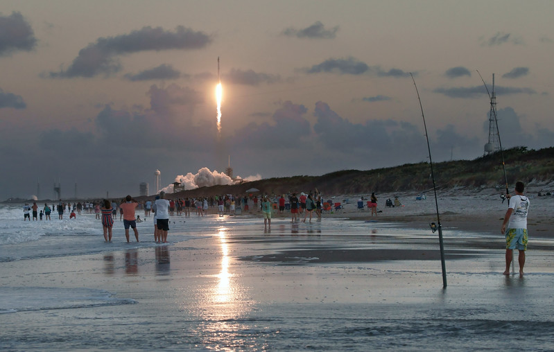 Launch evening at Playalinda Beach