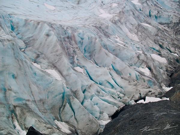 Close up of Exit Glacier