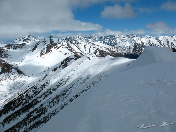Snowy Chugach from the top of Bird Ridge (ele. 3500 ft)