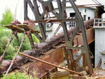 One of the old gold mining dredges at historic Dredge #8 (not the most original of names).