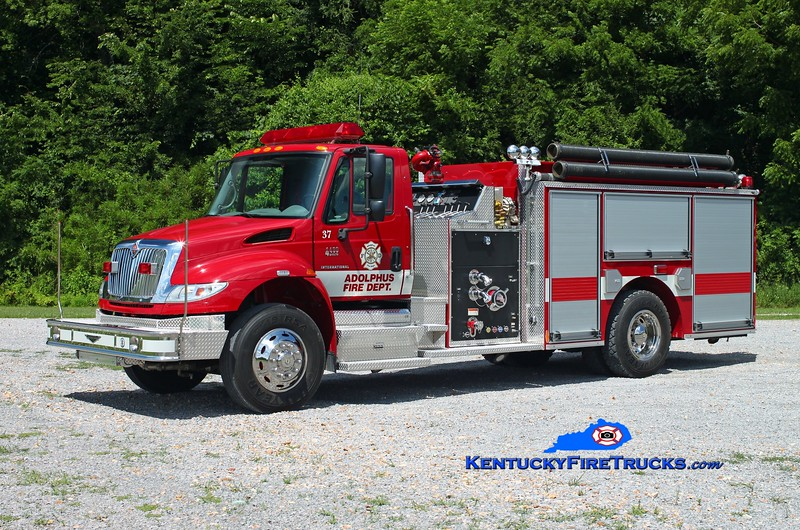<center> Adolphus  Engine 87 <br> 2005 International 4400/Pierce 1250/1000 <br> Kent Parrish photo <br> </center>