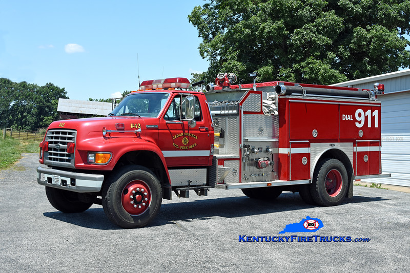 Cedar Springs #1 Engine 42<br /> 1995 Ford F-800/E-One 1250/1000<br /> Kent Parrish photo
