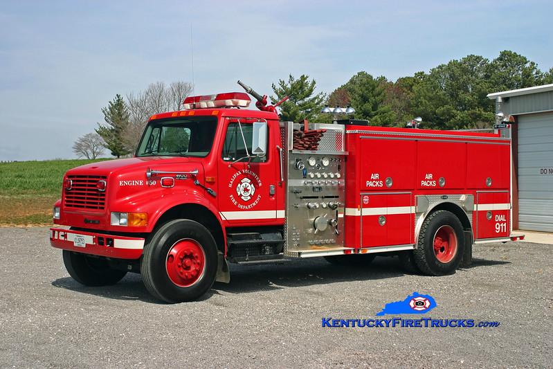 <center> Halifax  Engine 50 <br> 1999 International 4900/E-One 1250/1000 <br> Kent Parrish photo </center>