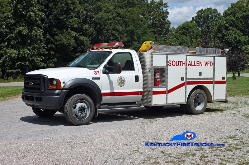 <center> South Allen  Engine 31 <br> 2006 Ford F-550 4x4/Local/CET 250/300/10 <br> Kent Parrish photo <br> </center>