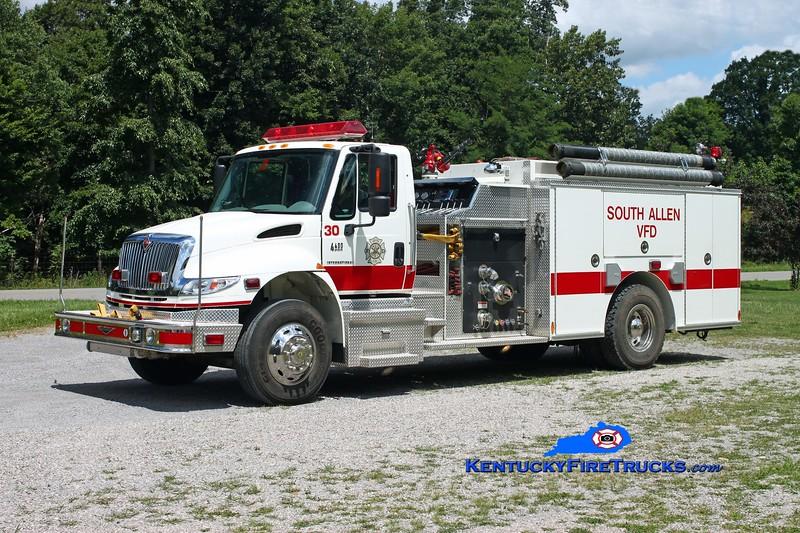 <center> South Allen  Engine 30 <br> 2006 International 4400/Pierce 1250/1000/30 <br> Kent Parrish photo <br> </center>