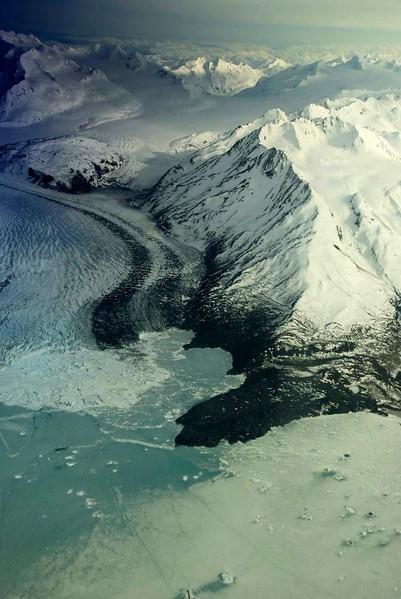 Tidewater glacier in Prince William Sound<br /> Alaska