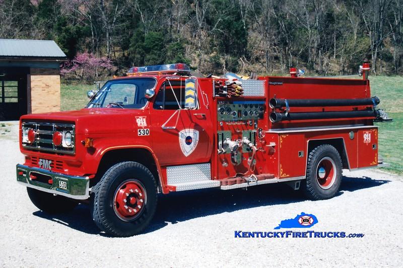 <center> RETIRED <br> Anderson County  Engine 53 <br> 1985 GMC/FMC 1000/1000 <br> Greg Stapleton photo </center>