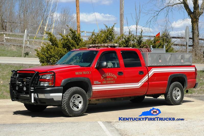 <center> Anderson County  Brush 5 <br> 2006 Chevy 3500 4x4/UPF 250/200  <br> Greg Stapleton photo </center>