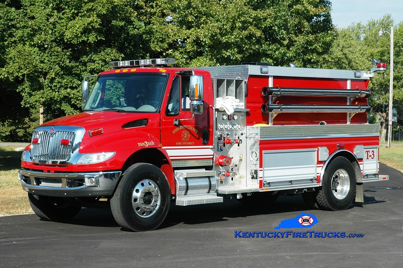 <center> Anderson County  Tanker 3 <br> 2015 International 4400/Southeast 750/2000 <br> Greg Stapleton photo </center>