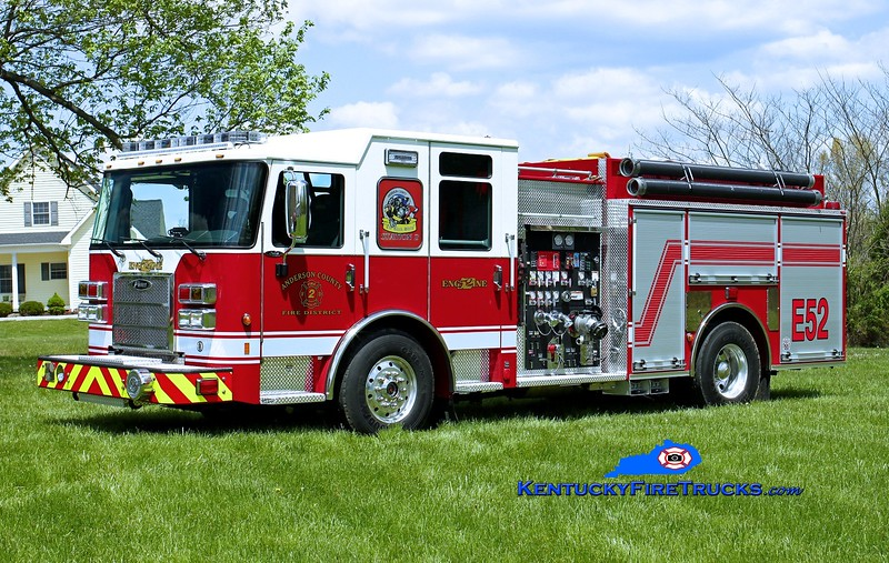 <center> Anderson County  Engine 52 <br> 2015 Pierce Saber 1250/1000/30 <br> Kent Parrish photo </center>