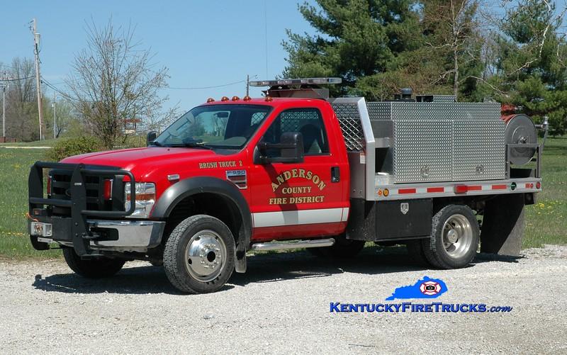 <center> Anderson County  Brush 2 <br> 2014 Ford F-550/UPF 250/250  <br> Greg Stapleton photo </center>