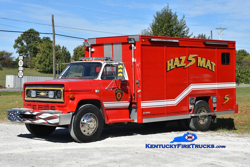 Anderson County Hazmat 5<br /> x-Shelbyville, KY<br /> 1989 GMC C70/Hesse/Reliable<br /> Greg Stapleton photo