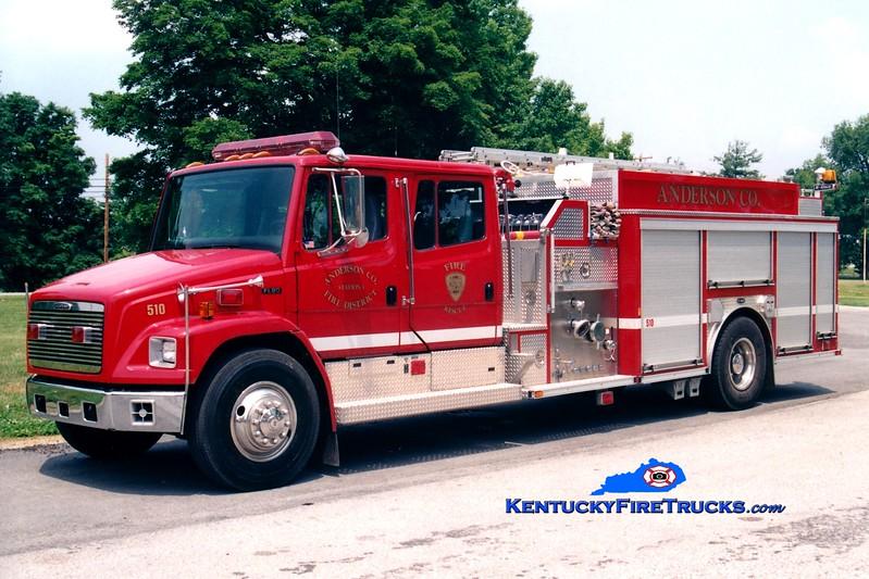 <center> REFURBISHED <br> Anderson County  Engine 51 <br> 1999 Freightliner FL80/E-One 1250/1000<br> Greg Stapleton photo </center>