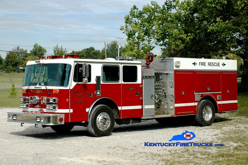 <center> Anderson County  Engine 56 <br> x-Cold Spring, KY <br> 1992 Duplex D-350/Grumman 1500/700/50  <br> Greg Stapleton photo </center>