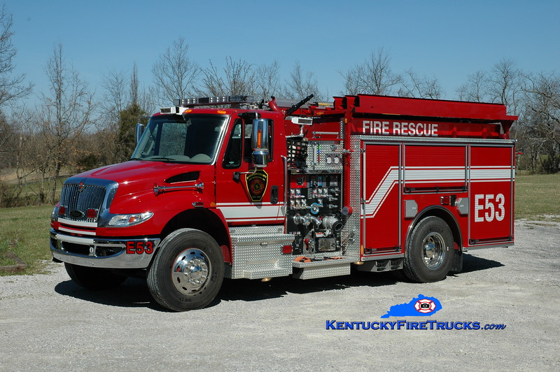 <center> Anderson County  Engine 53 <br> 2011 International 4400/Pierce 1500/1000/25 <br> Greg Stapleton photo </center>