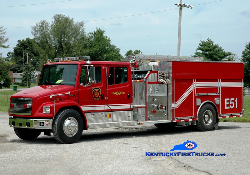 <center> Anderson County  Engine 51 <br> 1999 Freightliner FL80/E-One/2012 Summit 1250/1000<br> Greg Stapleton photo </center>