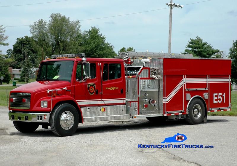 <center> Anderson County  Engine 51 <br> 1999 Freightliner FL80/E-One/2012 Summit 1250/1000<br> Greg Stapleton photo </center>