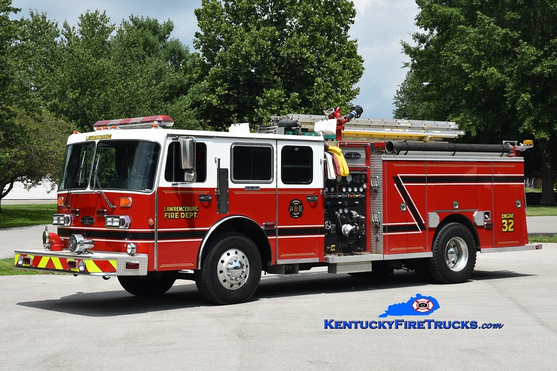 Lawrenceburg Engine 32 <br /> x-LaGrange, KY<br /> 1990 Simon-Duplex/Becker 1500/750<br /> Greg Stapleton photo