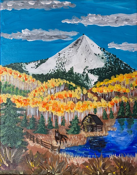 Hahn's Peak Painting Fall