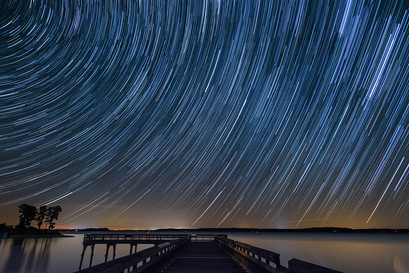 Henderson Point Star Trails - Kerr Lake, NC<br /> best print size - 8x12 or 12x18