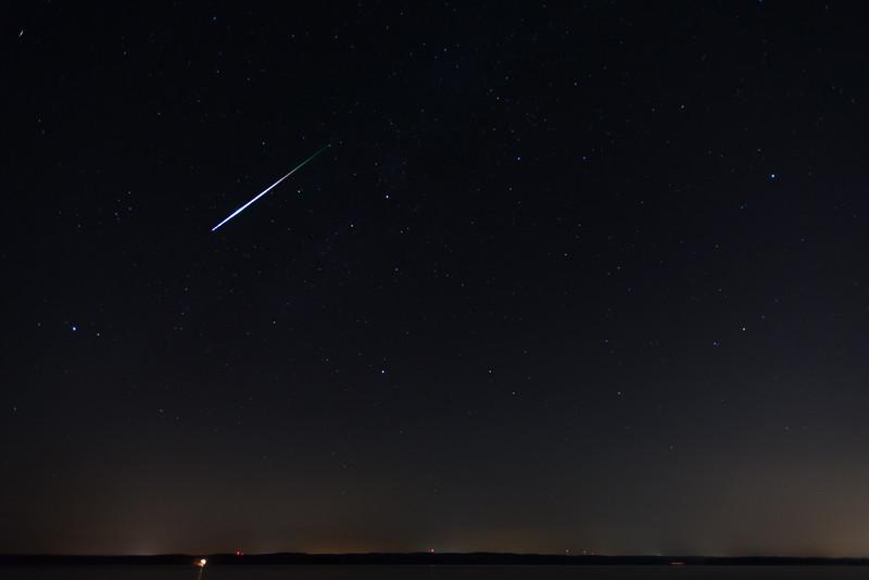 Perseid Meteor Shower, Jordan Lake<br /> best print size - all