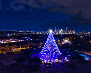 the #zilker tree and the #skyline of #austin #texas
