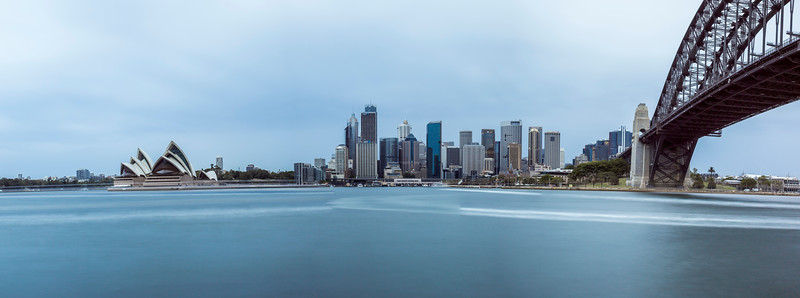 Sydney Opera House and Bridge Panorama