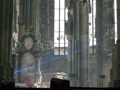 Inside Stephansdomkirche in Vienna.