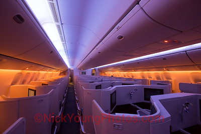 Cathay Pacific Boeing 777-300ER Business Class cabin