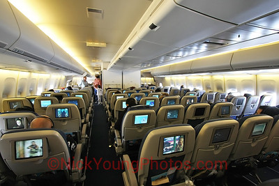 Air New Zealand Boeing 747-400 Economy Class cabin