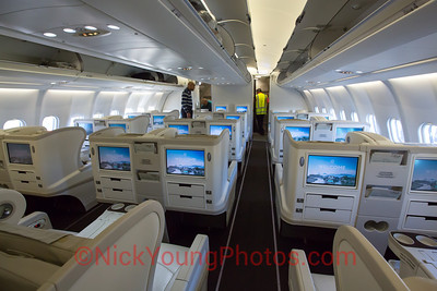 Fiji Airways Airbus A330-200 Business Class cabin