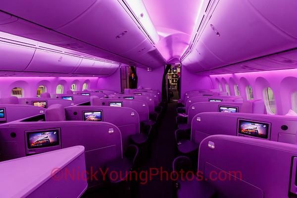 Air New Zealand Boeing 787-9 Business Class cabin