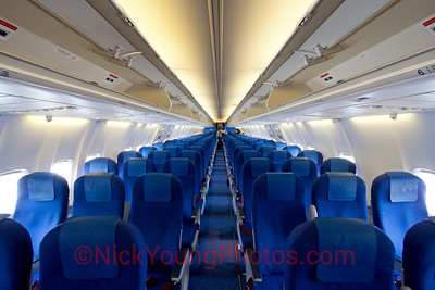 Economy Class cabin on a KLM 737-800