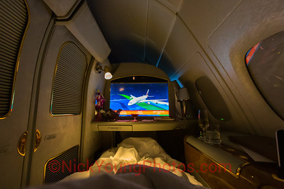 Bed Time in First Class onboard an Emirates A380