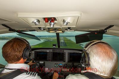Barrier Air Cessna Grand Caravan on approach for 05R at AKL