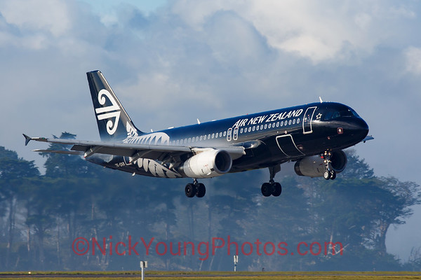 Air New Zealand black Airbus A320