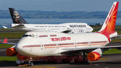 Air India One meets Ed Force One in Auckland