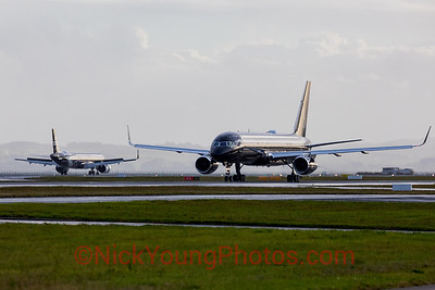 Double black aircraft shot - Four Seasons 757 and Air New Zealand A321neo