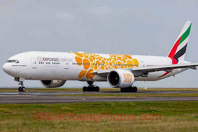 Emirates Boeing 777-300ER Expo 2020 orange