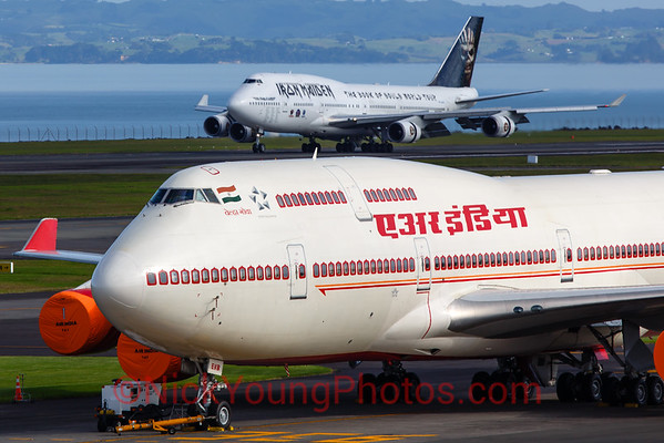 Air India Boeing and Iron Maiden Boeing 747-400