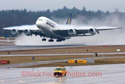 Singapore Airlines whalejet making a big 'splash'.
