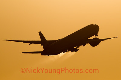 British Airways Boeing 777-300ER silhouette