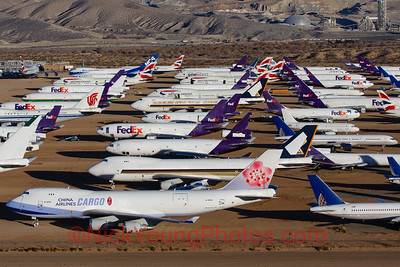 The main part of the boneyard at Victorville