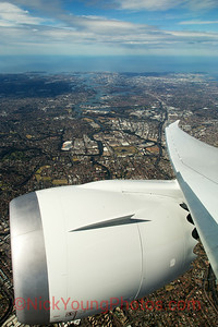 Sydney City from an Air New Zealand Boeing 787-9