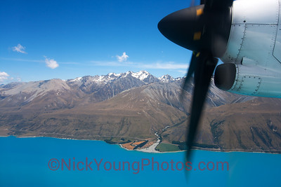 Flying over Lake Pukaki